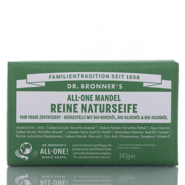 Dr. Bronner's Stückseife All-One Naturseife Mandel 140g