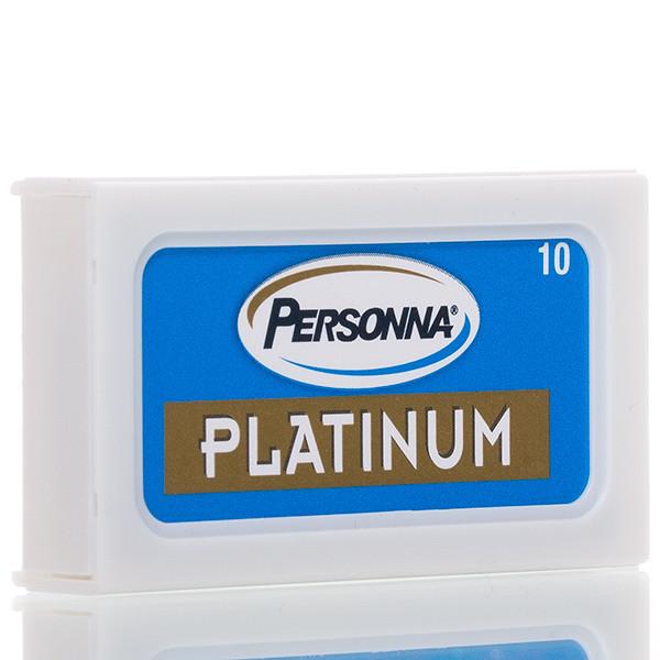 Personna Platinum Chrome Rasierklingen für Rasierhobel (10 Stk.) Ansicht der Verpackung leicht schräg
