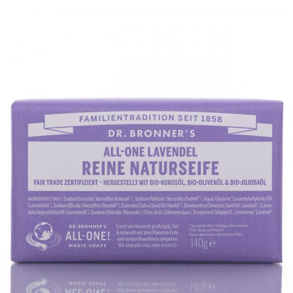 Dr. Bronner's Stückseife All-One Naturseife Lavendel 140g