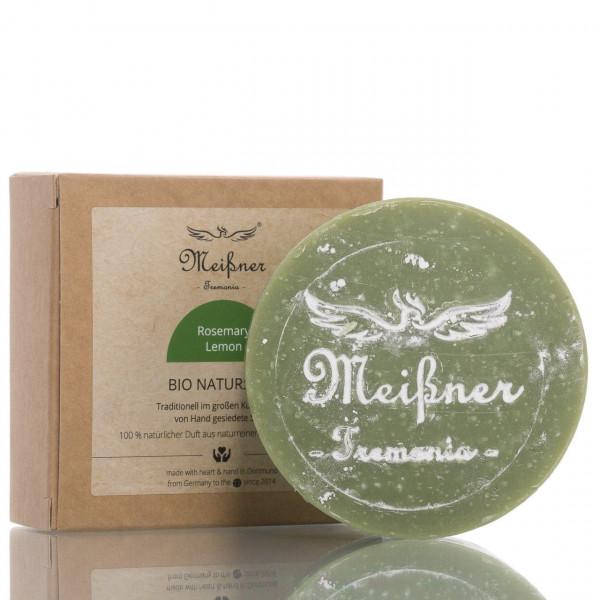 Meißner Tremonia Stückseife Bio Naturseife Rosemary Lemon 140g 1