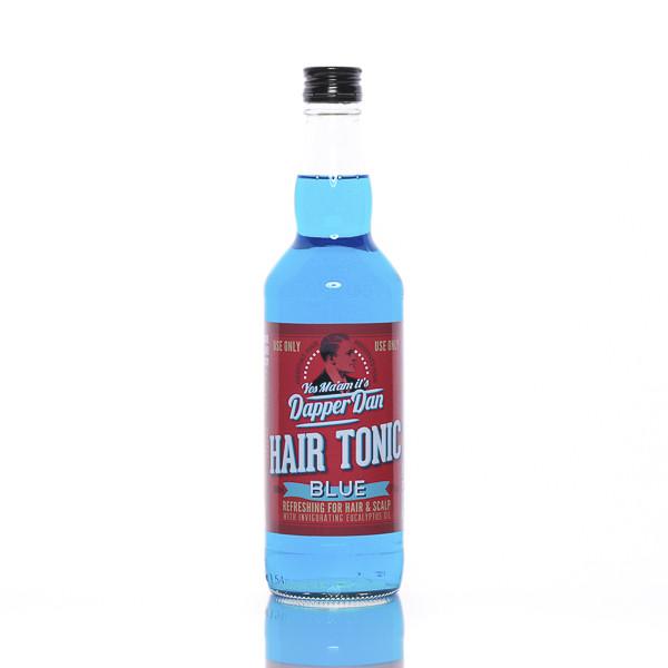 Dapper Dan Hair Tonic Blue 500ml Frontalansicht der Flasche