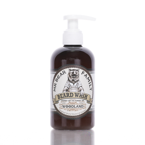 Mr. Bear Family Bartshampoo Woodland 250ml Frontalansicht der Flasche