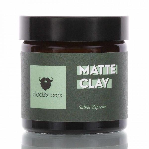 blackbeards Pomade Matte Clay Salbei Zypresse 60g