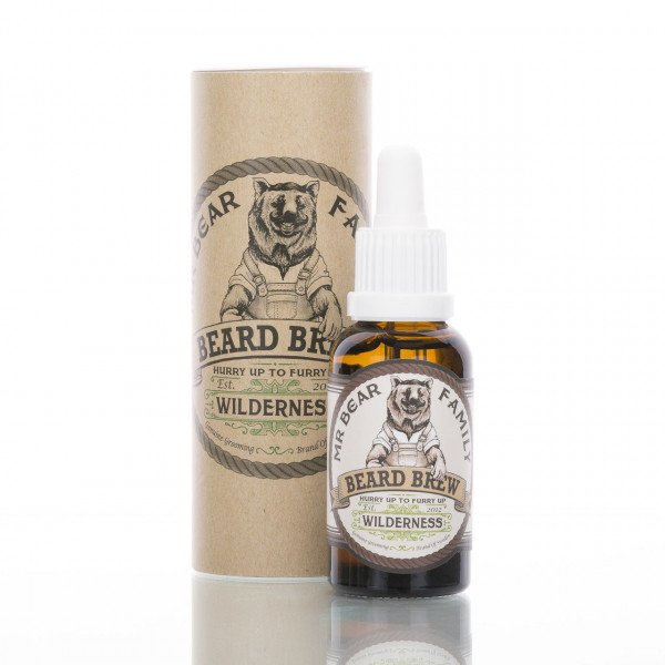 Mr. Bear Family Beard Brew Wilderness mit der Verpackung