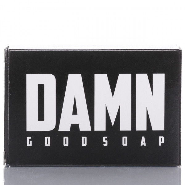 Damn Good Soap Company Bartseife 135g Frontalansicht mit Verpackung