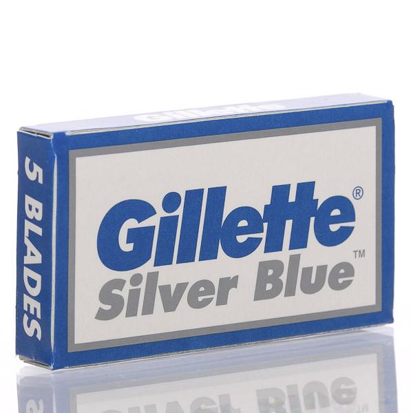 Gillette Silver Blue Rasierklingen für Rasierhobel (5 Stk.) Ansicht der Verpackung leicht schräg