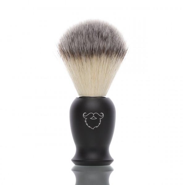 blackbeards Rasierpinsel mit schwerem Griff aus Aluminium, veganes Pinselhaar
