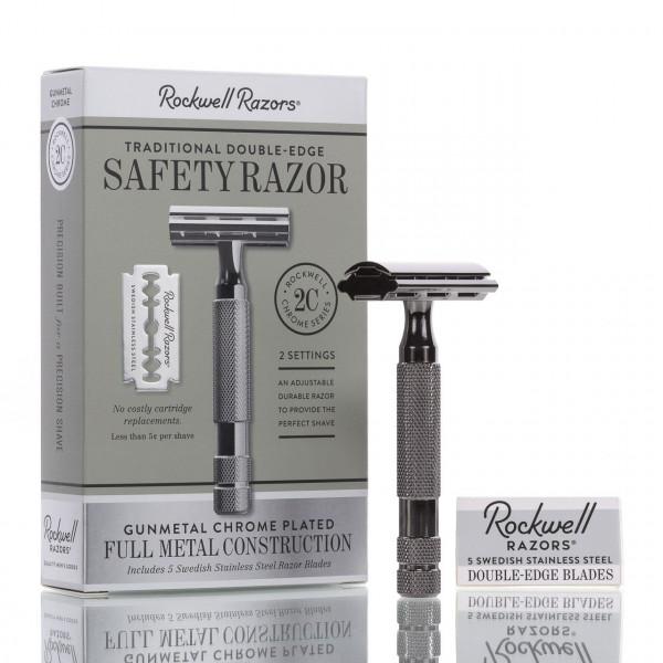 Rockwell Razors Rasierhobel 2C Gunmetal, geschlossener Kamm, Double Edge 1