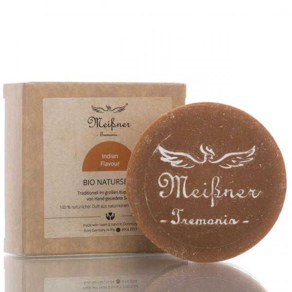 Meißner Tremonia Stückseife Bio Naturseife Indian Flavour 140g 1