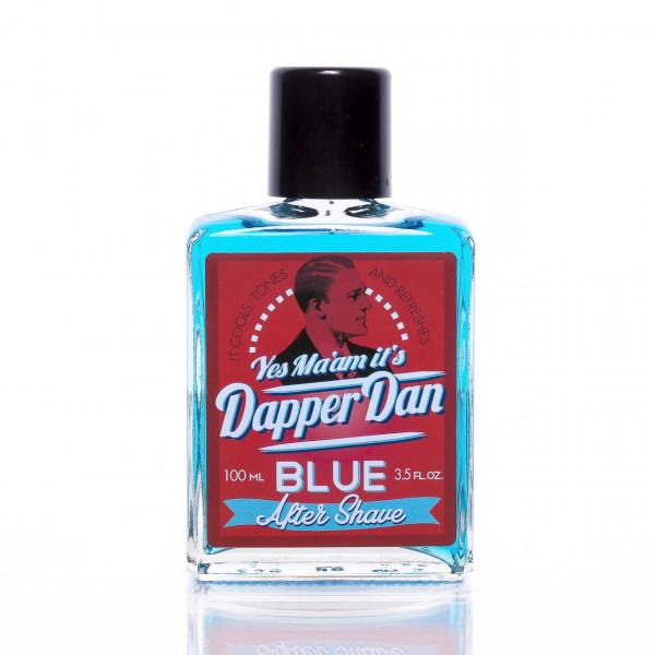 Dapper Dan Rasierwasser After Shave Blue 100ml Frontalansicht der Flasche