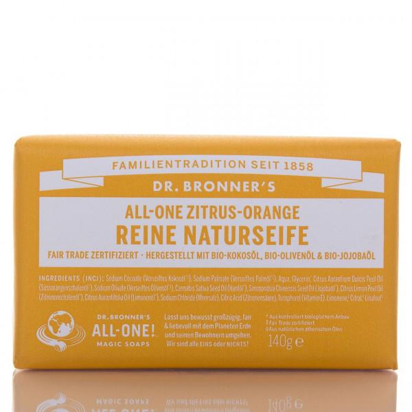 Dr. Bronner's Stückseife All-One Naturseife Zitrus Orange 140g