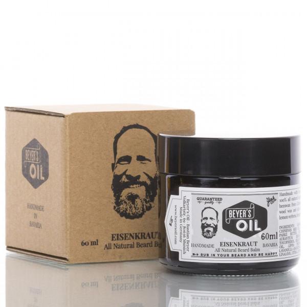 Beyer's Oil Beard Balm Eisenkraut 60ml mit Verpackung