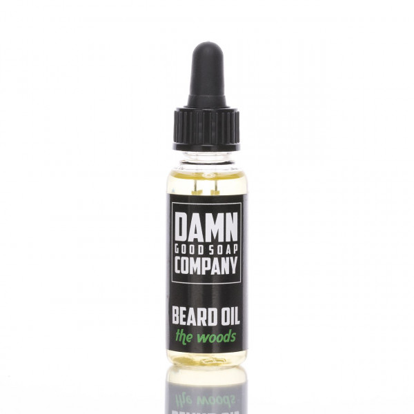 Damn Good Soap Company Bartöl The Woods 25ml Frontalansicht der Flasche