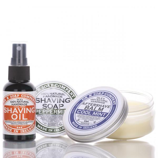 Dr K Soap Company Rasier Set mit Rasieröl, Rasierseife und After Shave Balsam 1