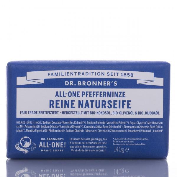 Dr. Bronner's Stückseife All-One Naturseife Pfefferminze 140g
