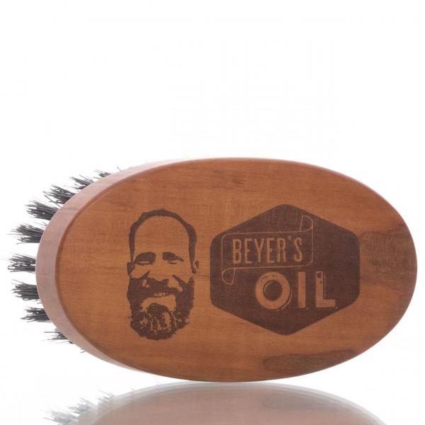 Beyer's Oil Bartbürste aus Birnbaumholz mit Wildschweinborsten (groß) 1