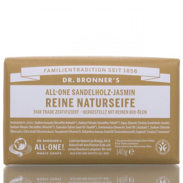 Dr. Bronner's Stückseife All-One Naturseife Sandelholz Jasmin 140g
