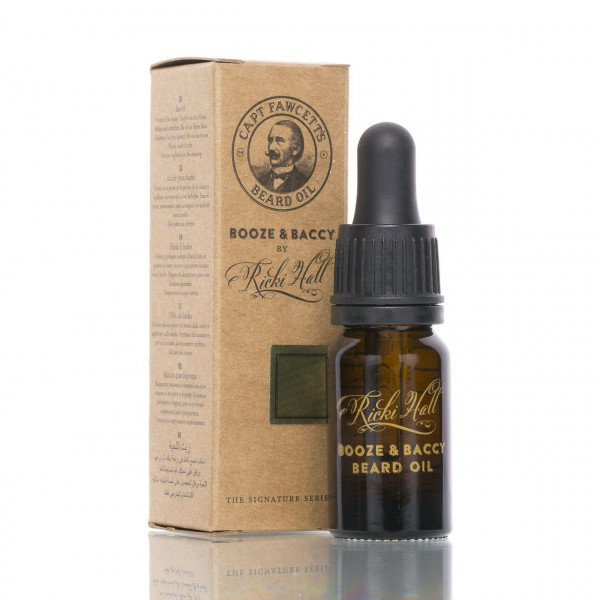 Captain Fawcetts Bartöl Booze & Baccy by Ricki Hall 10ml mit Verpackung