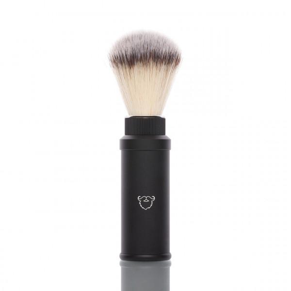 blackbeards Rasierpinsel für die Reise, veganes Pinselhaar 1