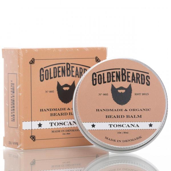 Golden Beards Beard Balm Toscana 30ml mit Verpackung