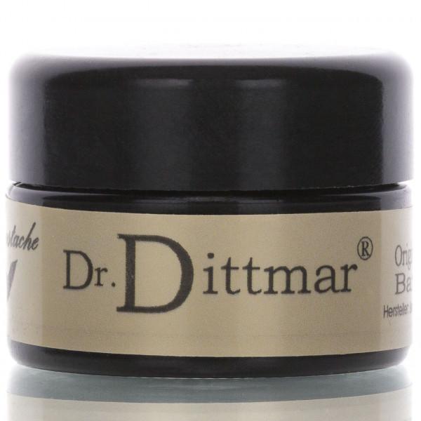 Dr. Dittmar Original ungarische Bartwichse 16ml Frontalansicht Dose aufschrift Dr. Dittmar