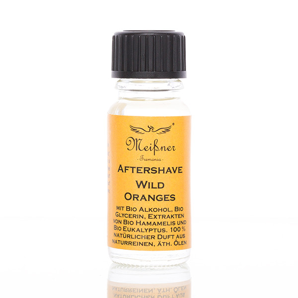 Meißner Tremonia After Shave Wild Oranges Probe 10ml Frontalansicht der Flasche