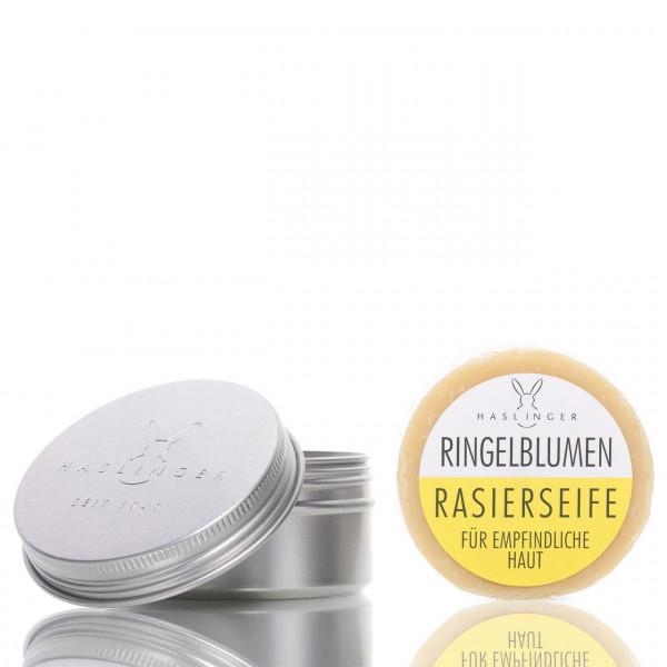 Haslinger Seifen & Kosmetik Rasierseife Ringelblume in Dose 60g 1