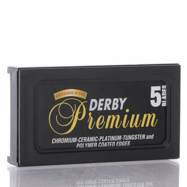 Derby Rasierklingen Premium Black, Double Edge (5 Stk.)