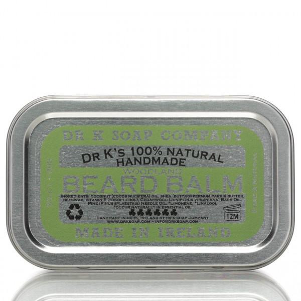 Dr K Soap Company Bartbalsam Woodland 50g Frontalansicht der Dose