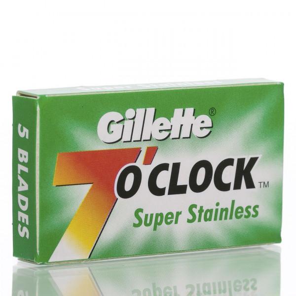 Gillette Rasierklingen 7 O'clock Super Stainless, Double Edge (5 Stk.)