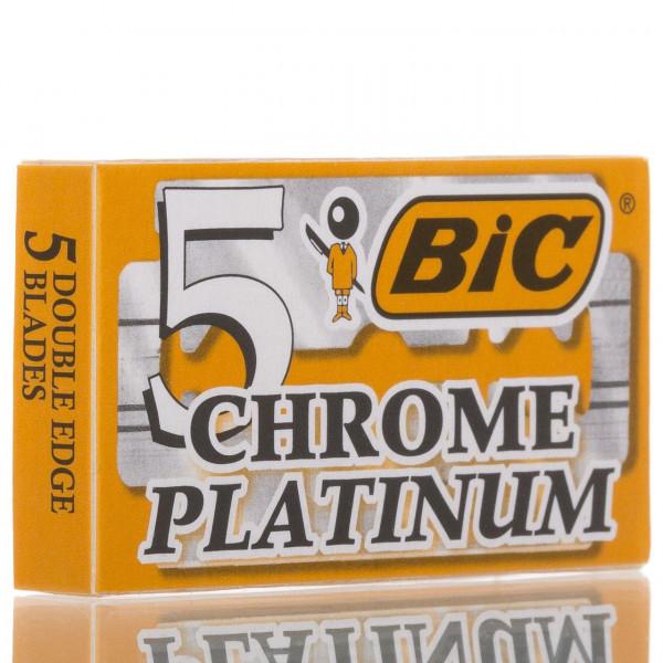 BIC Rasierklingen Chrome Platinum, Double Edge (5 Stk.)