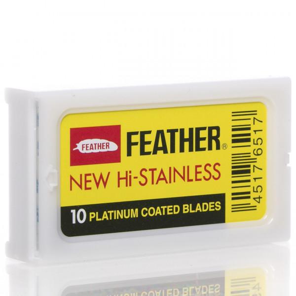 Feather Rasierklingen New Hi-Stainless, Double Edge (10 Stk.)