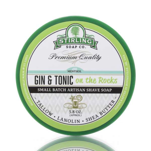 Stirling Soap Company Rasierseife Gin & Tonic on the rocks 170ml 1