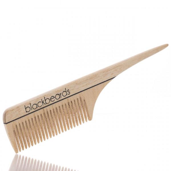 blackbeards Bartkamm mit Stiel aus Ahornholz mit feiner Zahnung 1