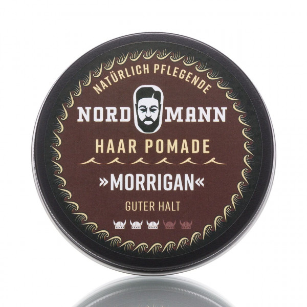 Nordmann Haarpflege Pomade Morrigan 100ml Frontalansicht der Dose