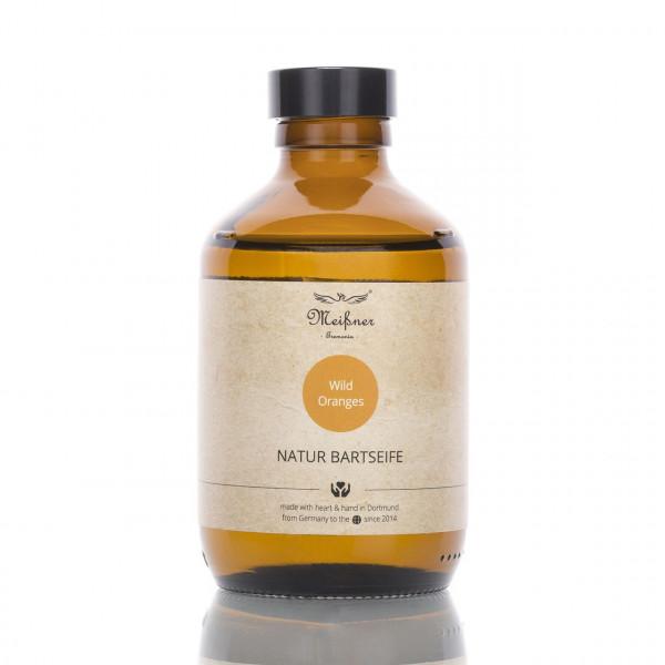 Meißner Tremonia Bartseife Wild Oranges 200ml Frontalansicht der Flasche