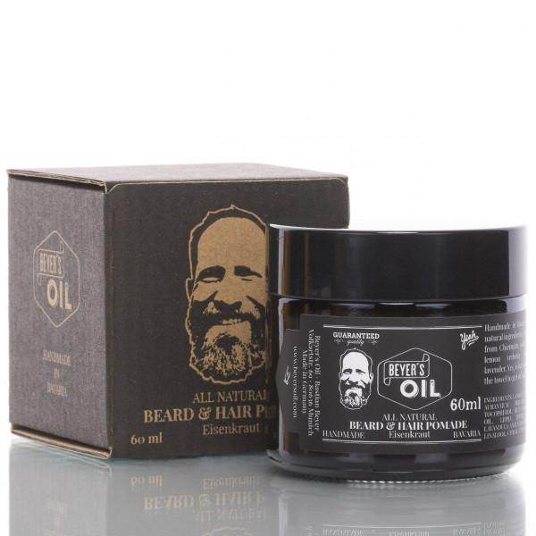Beyer's Oil Bart- und Haarpomade Eisenkraut 60ml 1