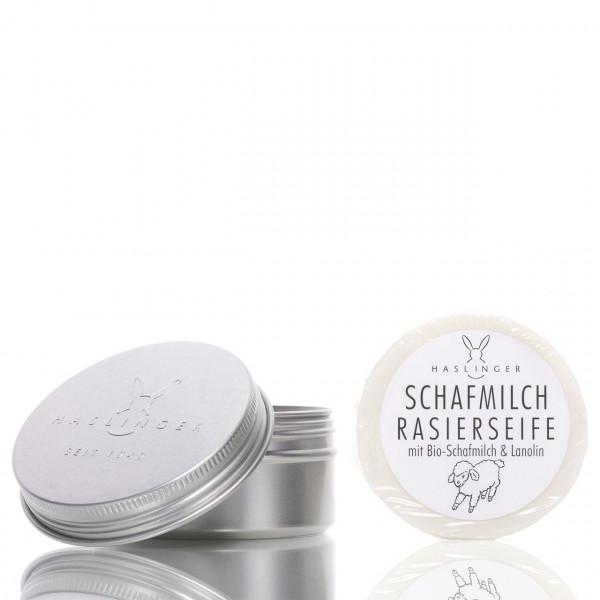 Haslinger Seifen & Kosmetik Rasierseife Schafmilch & Lanolin in Dose 60g 1
