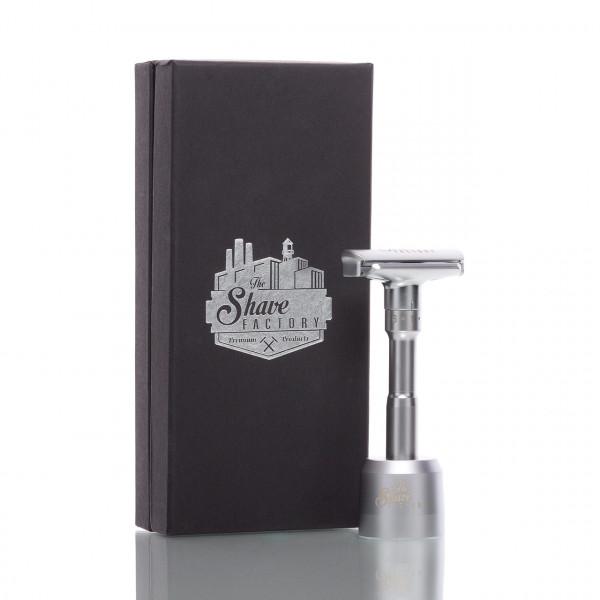 The Shave Factory Rasierhobel, geschlossener Kamm, verstellbarer Klingenspalt, Double Edge 1