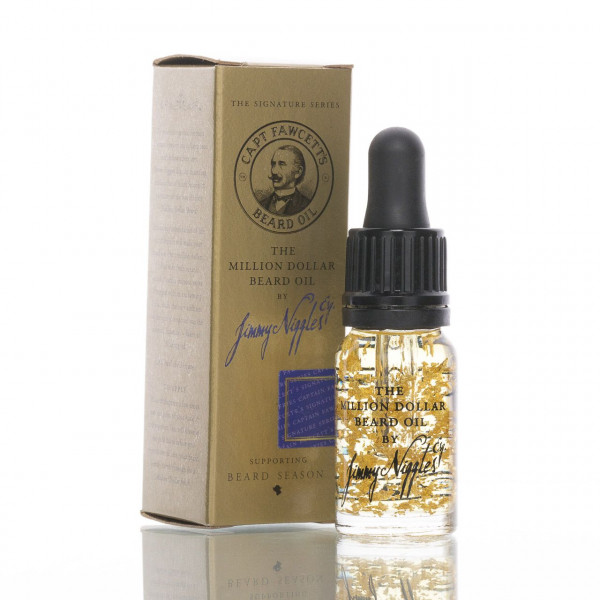 Captain Fawcetts Million Dollar Beard Oil by Jimmy Niggles 10ml mit der Verpackung
