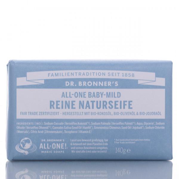 Dr. Bronner's Stückseife All-One Naturseife Neutral-Mild 140g