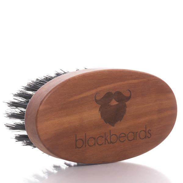 blackbeards Bartbürste aus Birnbaumholz mit Wildschweinborsten (groß) 1