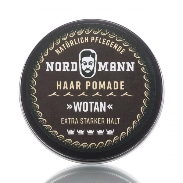 Nordmann Haarpflege Pomade Wotan 100ml Frontansicht der Dose