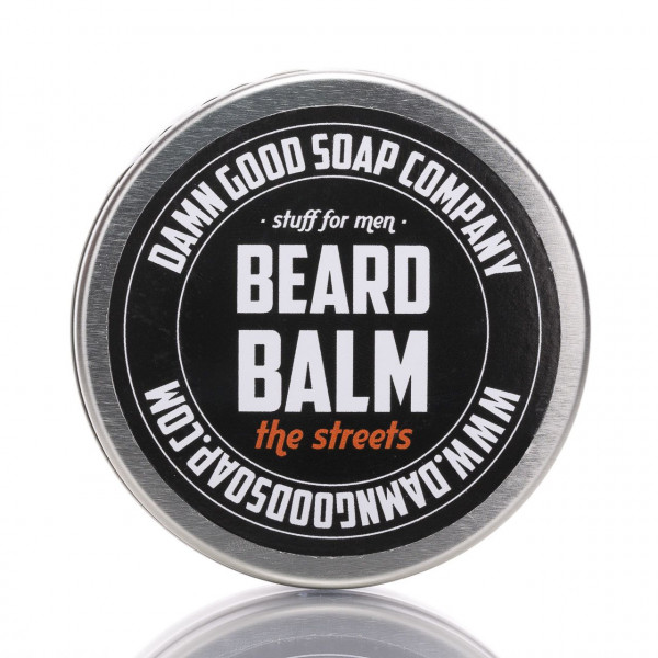 Damn Good Soap Company Bartbalsam The Streets 50ml Frontalansicht der Dose