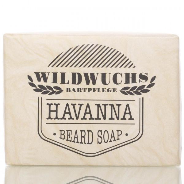 Wildwuchs Bartpflege Bartseife Havanna 100g Frontalansicht der Seife