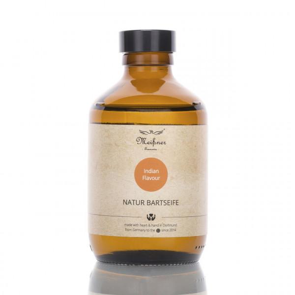 Meißner Tremonia Bartseife Indian Flavour 200ml Frontalansicht der Flasche