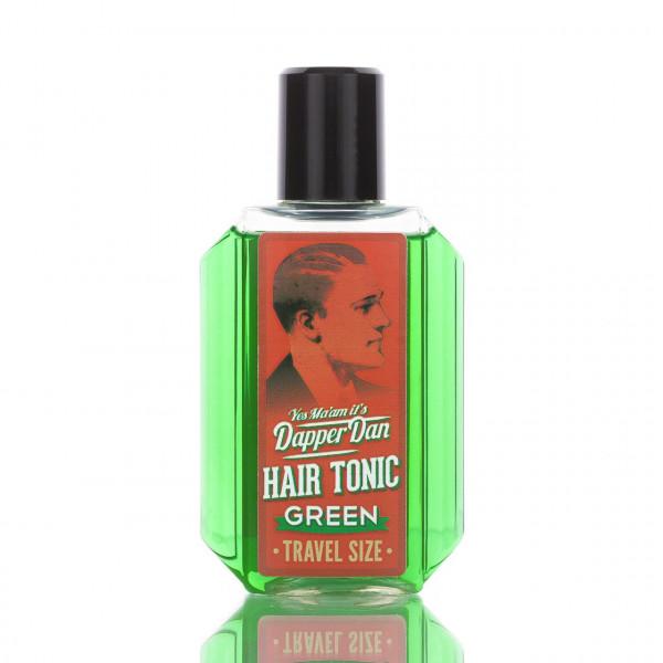 Dapper Dan Hair Tonic Green Reisegröße 100ml Frontalansicht der Flasche