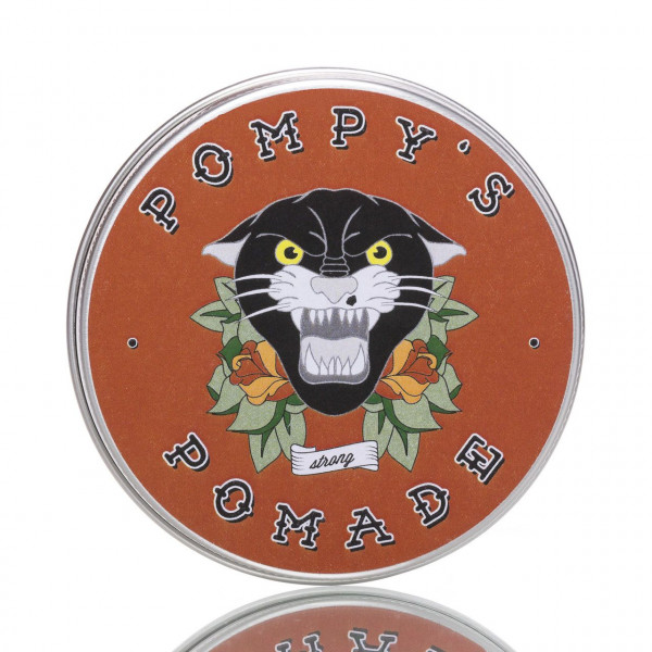 Pompy´s Pomade Strong 100ml Frontalansicht der Dose